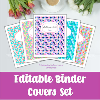 picture regarding Printable Binder Covers to Color titled 5 Editable Binder Deal with. Printable Coloration triangles.