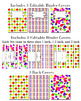 Editable Binder Cover Set of 3 Apples Theme for Teacher Binders, Portfolios