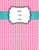 Editable Binder Cover (green, pink, yellow retro)