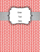 Editable Binder Cover (red, yellow retro)