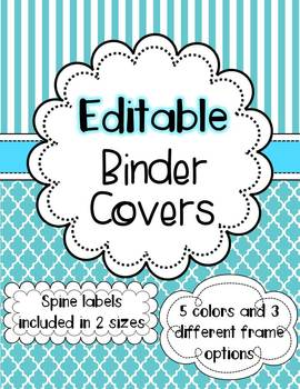 binder covers editable by the enlightened elephant tpt