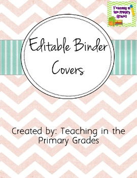 editable binder covers by kiddos and crayons by jordan piacenti tpt