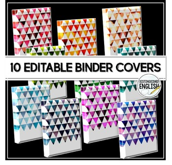 Editable Binder Covers with Triangle Bokeh