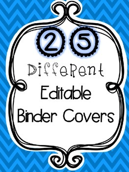 Editable Binder Covers (for personal use)