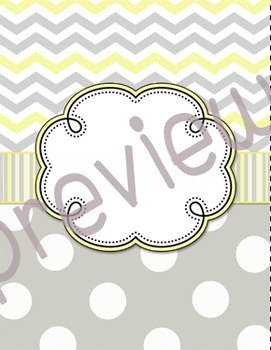 Yellow and Gray binder covers