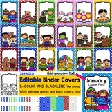Editable Binder Covers - 19 Covers, Binder Spines, Back Covers & Blacklines too!
