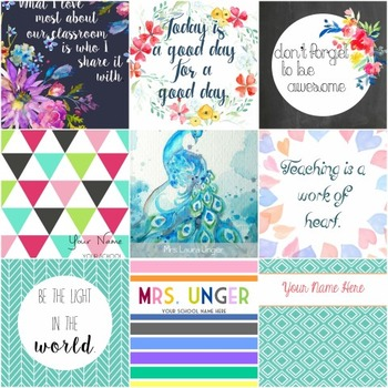 Editable Binder and Planner Covers