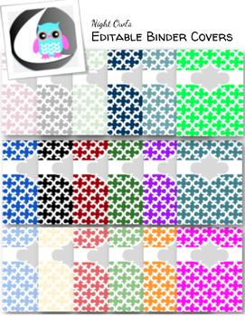 Editable Binder Covers