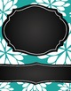 Binder Covers - Editable Teal and Chalkboard