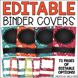 Binder Covers and Spines EDITABLE Floral
