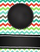 Binder Covers and Spines EDITABLE Colorful Chevron