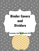 Editable Binder Covers-Apple Chevron Theme