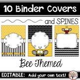 Editable Binder Covers - Bee Themed