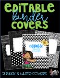 Editable Binder Covers - Black & White