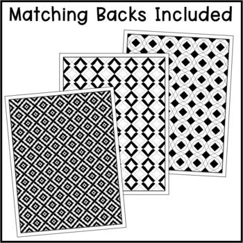 Editable Binder Covers - Black & White Boho Style