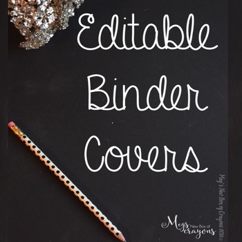 Editable Binder Covers-Black and Gold