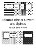 Editable Binder Covers - Black and White