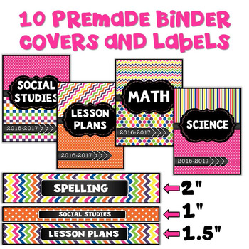 Editable Binder Covers Bright