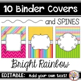 Editable Binder Covers - Bright Rainbow