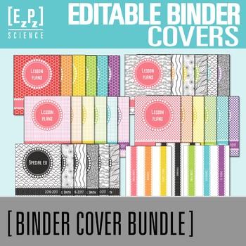 Rainbow Editable Binder Cover Bundle