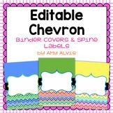 Editable Binder Covers Chevron