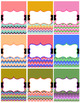 Editable Binder Covers Chevron
