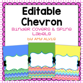 Editable Binder Covers - Chevron