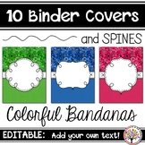 Editable Binder Covers - Colorful Bandanas