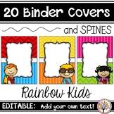 Editable Binder Covers - Colorful Kids