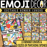 Editable Binder Covers and Spines: Emoji Theme
