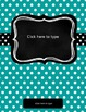 Editable Binder Covers FREE - Beautify Your Binders With Aqua and Polka-Dots