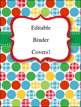 Editable Binder Covers/ Class Signs   **FREEBIE**
