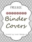 Editable Binder Covers FREEBIE