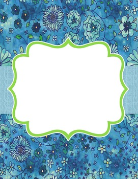 Editable Binder Covers (Floral Watercolor)