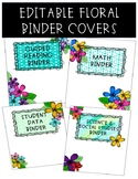 Editable Binder Covers {Floral & Watercolor Themed}