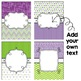 Editable Binder Covers - Green and Purple