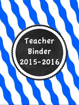 Editable Binder Covers/ Inserts