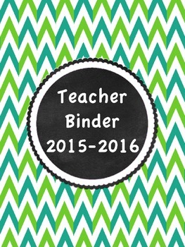 Editable Binder Covers/ Inserts in  Funky Chevron