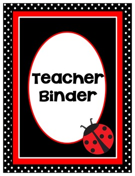 Editable Binder Covers Ladybug Theme