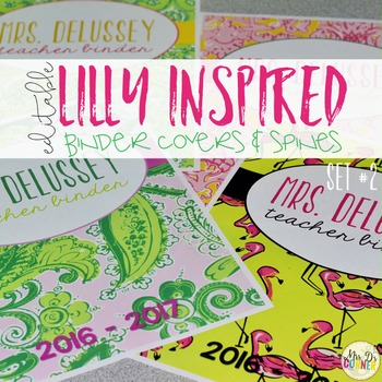 Editable Binder Covers ( Lilly Inspired Set 2 )