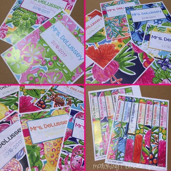 Editable Binder Covers ( Lilly Inspired Set 3 )