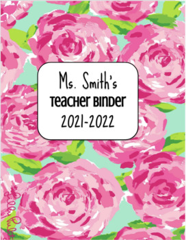 image about Lilly Pulitzer Printable Binder Covers identify Editable Binder Addresses (Lilly Pulitzer Concept)