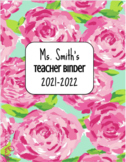 Editable Binder Covers (Lilly Pulitzer Theme)