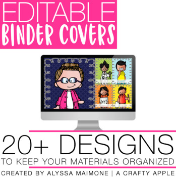 Editable Binder Covers {Melonheadz Theme}