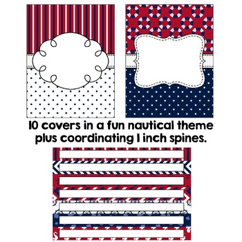 Editable Binder Covers - Nautical