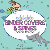 Editable Binder Covers ( Ocean ) with Editable Spines