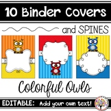 Editable Binder Covers - Owls