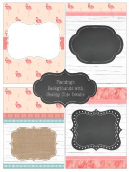 Shabby Chic/Farmhouse Editable Binder Covers Pineapples & Flamingos Edition