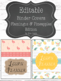 Shabby Chic/Farmhouse Editable Binder Covers Pineapples &
