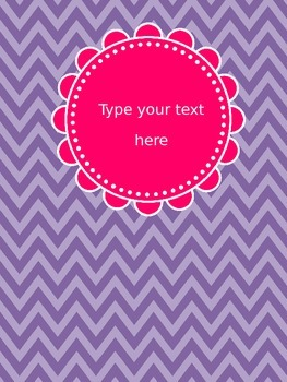 Editable Binder Covers Pink Purple Chevron and Polka Dots